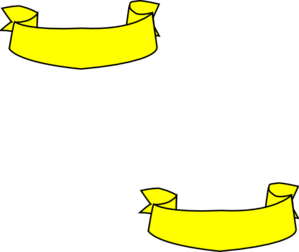 Banner clip art plain. Yellow ribbon at clker