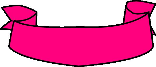 Banner clip art ribbon. Pink at clker com