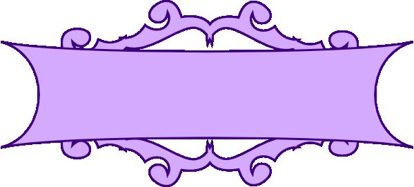 Banner clip art scroll. Purple at clker com