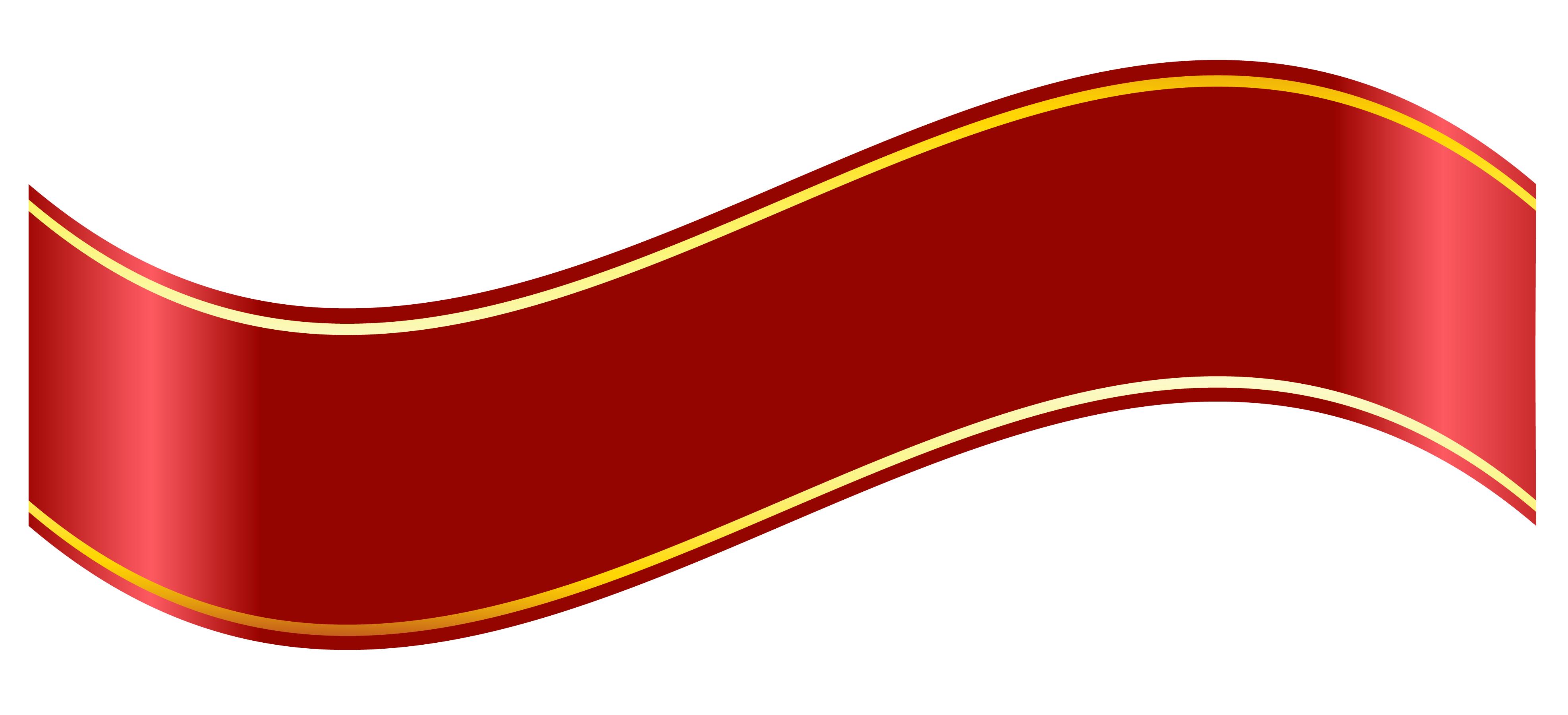 Free clipart banner. Red scroll