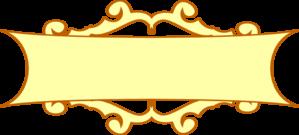 Gold at clker com. Banner clip art scroll