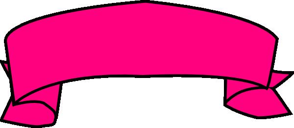 Banner clip art scroll. Magenta clipart