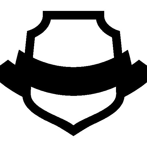 Ribbon symbol shapes award. Banner clip art shape