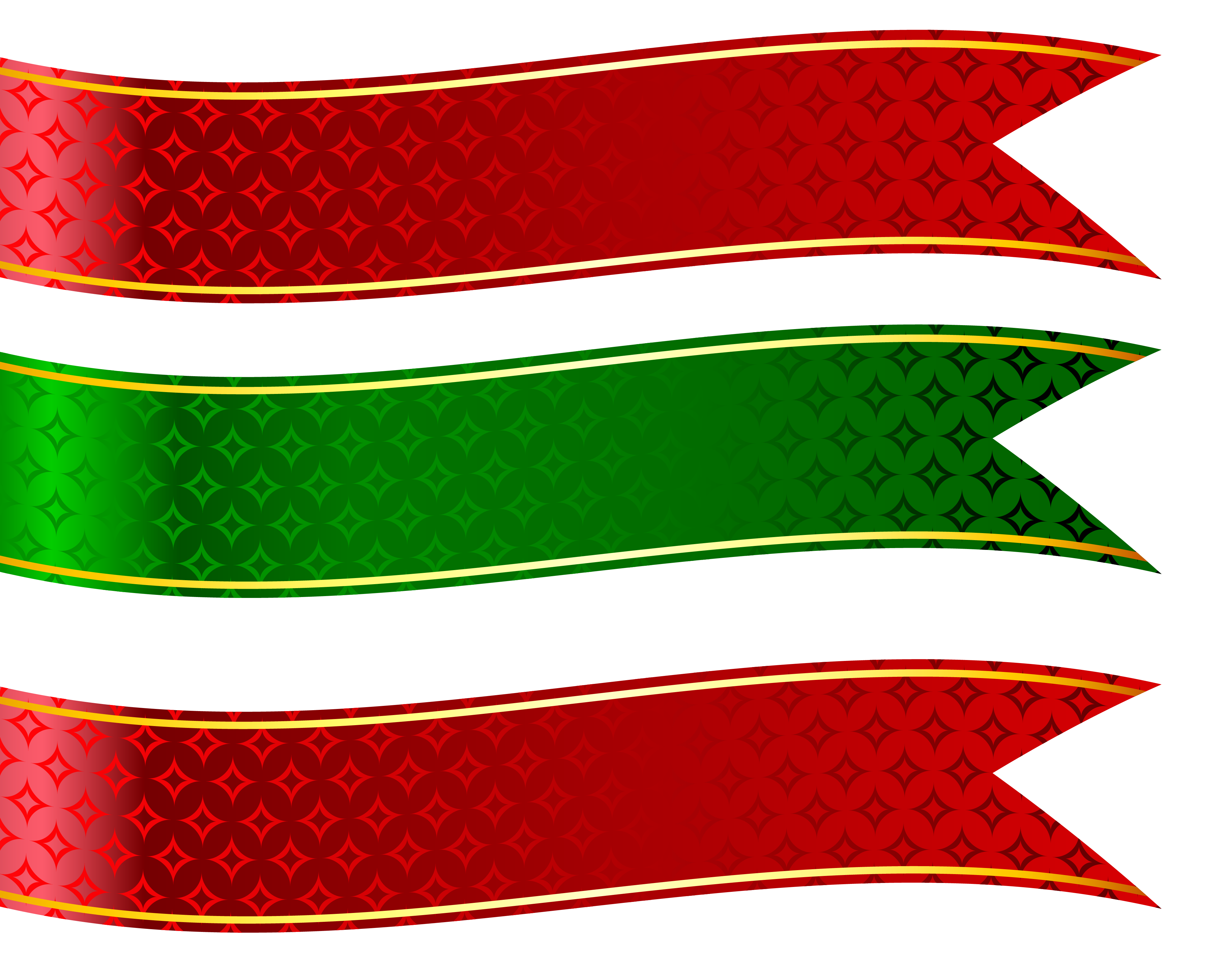 Green and red banners. Banner clip art shape