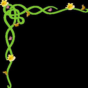 Banner clip art spring. Border yellow vector online