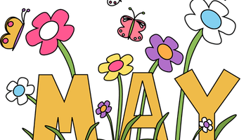 May clipart images free. Banner clip art spring