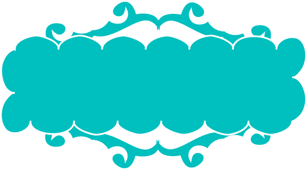 Banner clip art vector. Teal swirly at clker