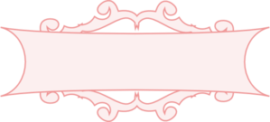 Pink banner . Banners clipart border