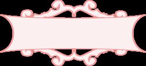 Pink clipart . Banner clip art vector