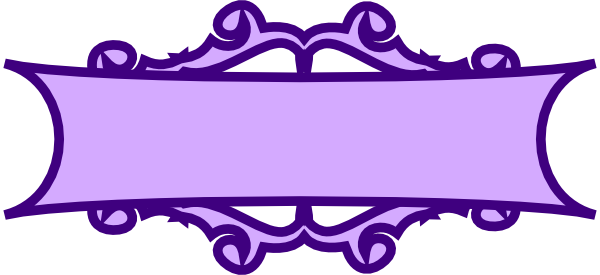Purple scroll at clker. Banner clip art vector