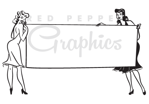 Red pepper graphics style. Banner clip art vintage