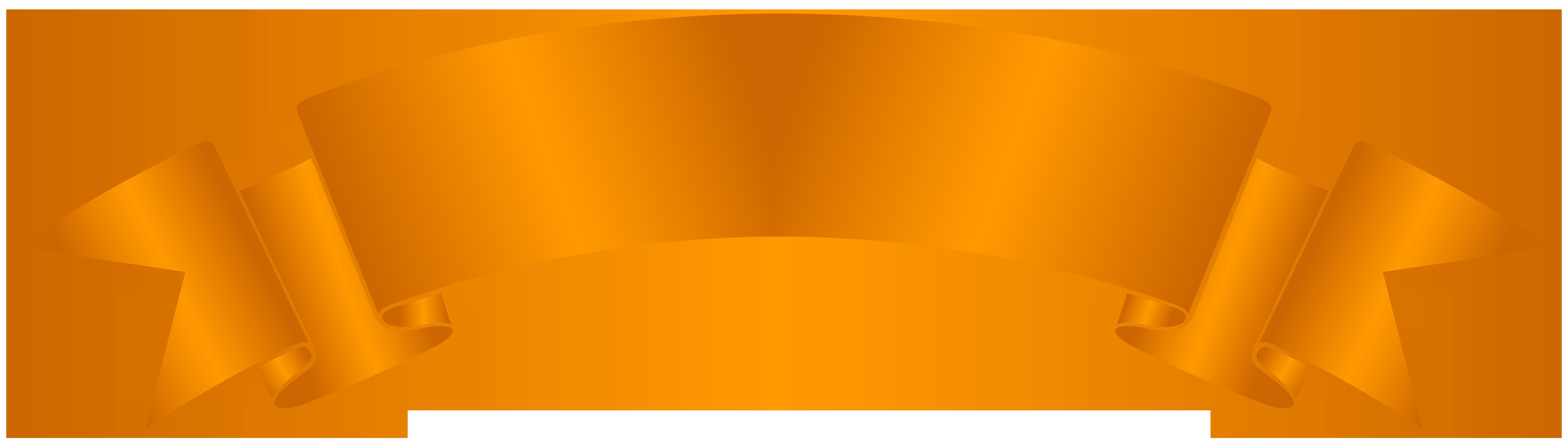 Banner clipart. Orange clip art png