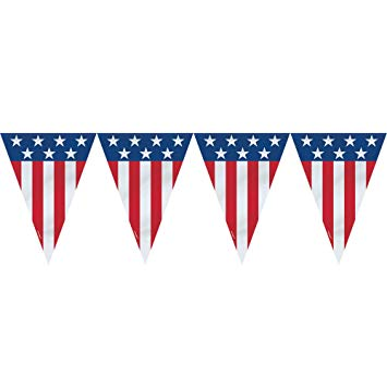 Amazon com ft plastic. Banners clipart american flag