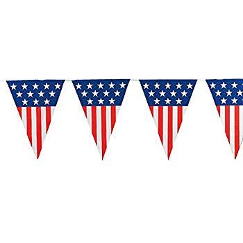 Amazon com fun express. Banners clipart american flag