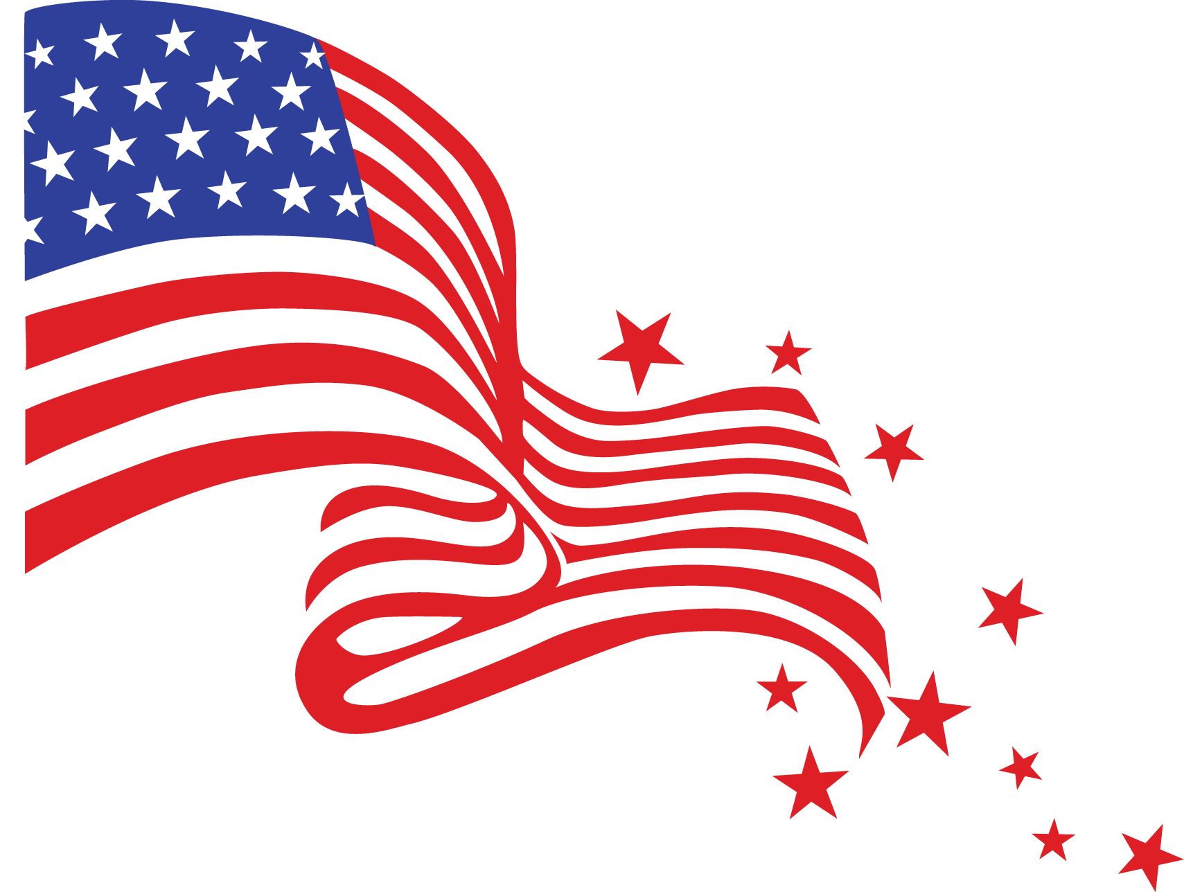Alt american flag banner. July clipart header
