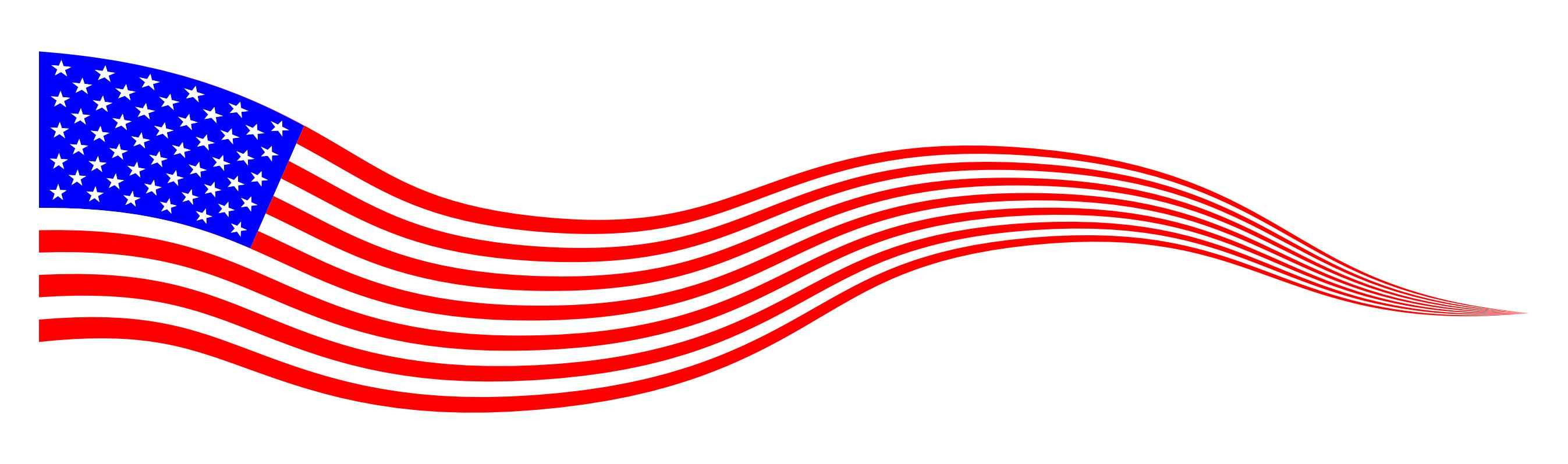 Wavy usa banner design. Banners clipart american flag
