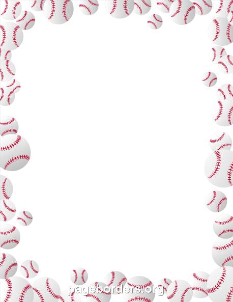 Baseball clipart border. Pin by muse printables
