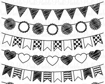 Banners clipart black and white. Pennant banner scrapheap challenge
