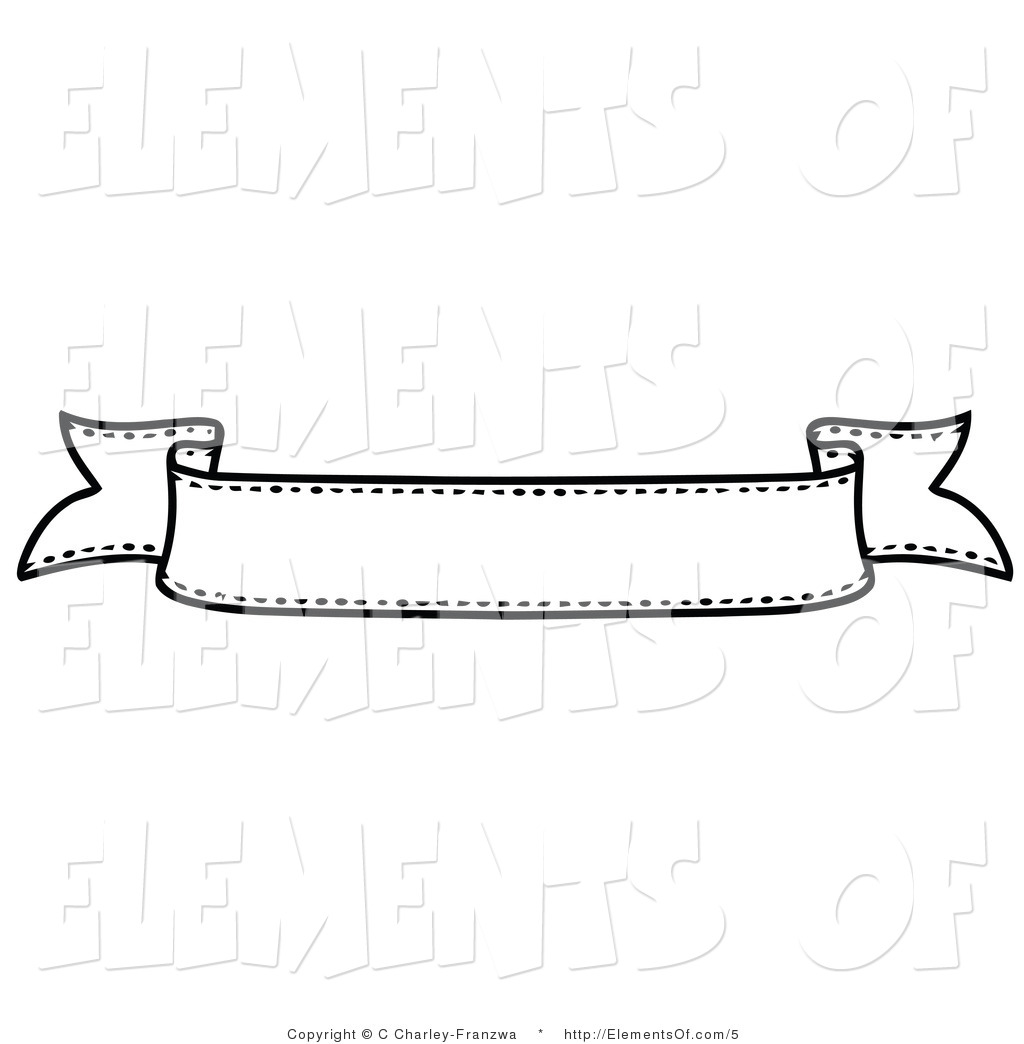 Banner . Banners clipart black and white