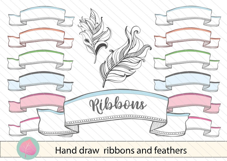 Featers vintage png hand. Boho clipart banner