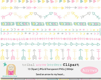 Pattern border indian bohemian. Boho clipart banner