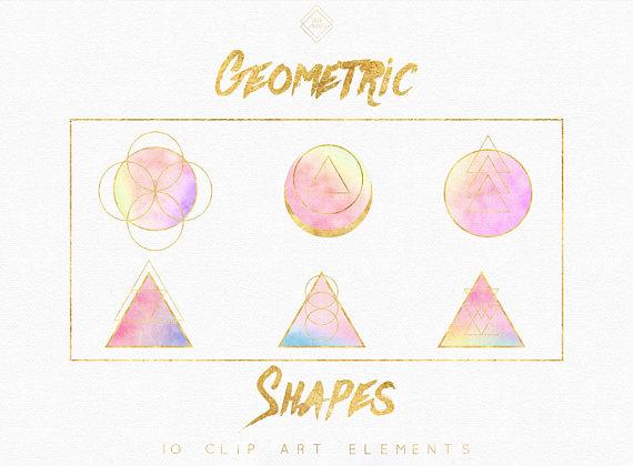 Geometric bohemian clip art. Banner clipart boho