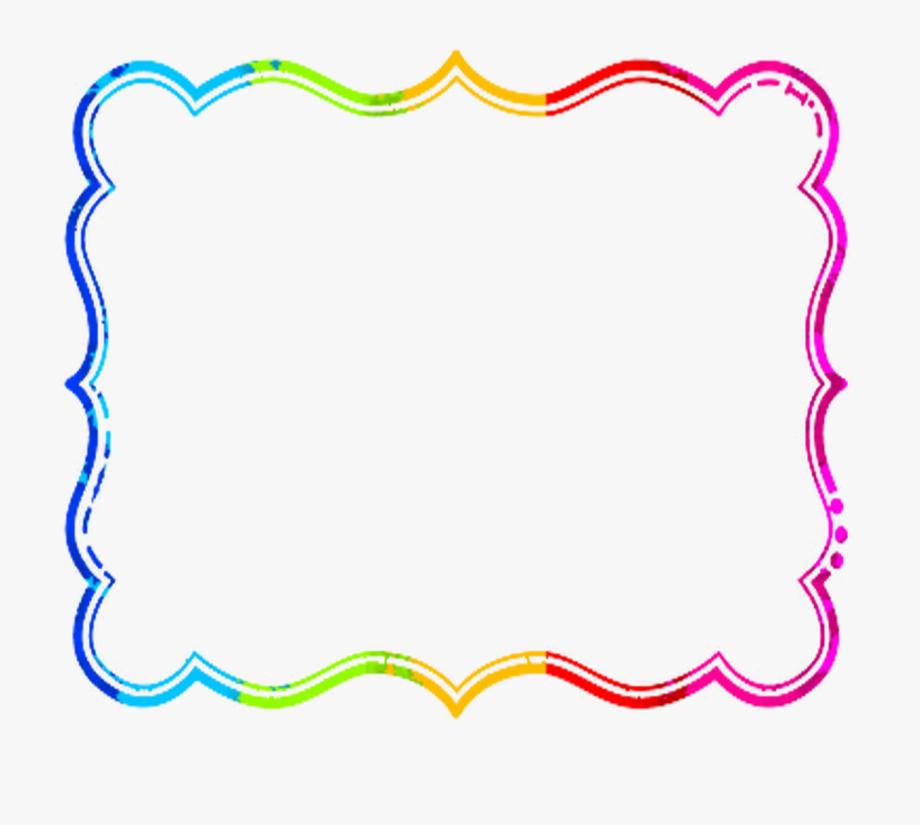 Banner clipart border. Frame transparent colorful png