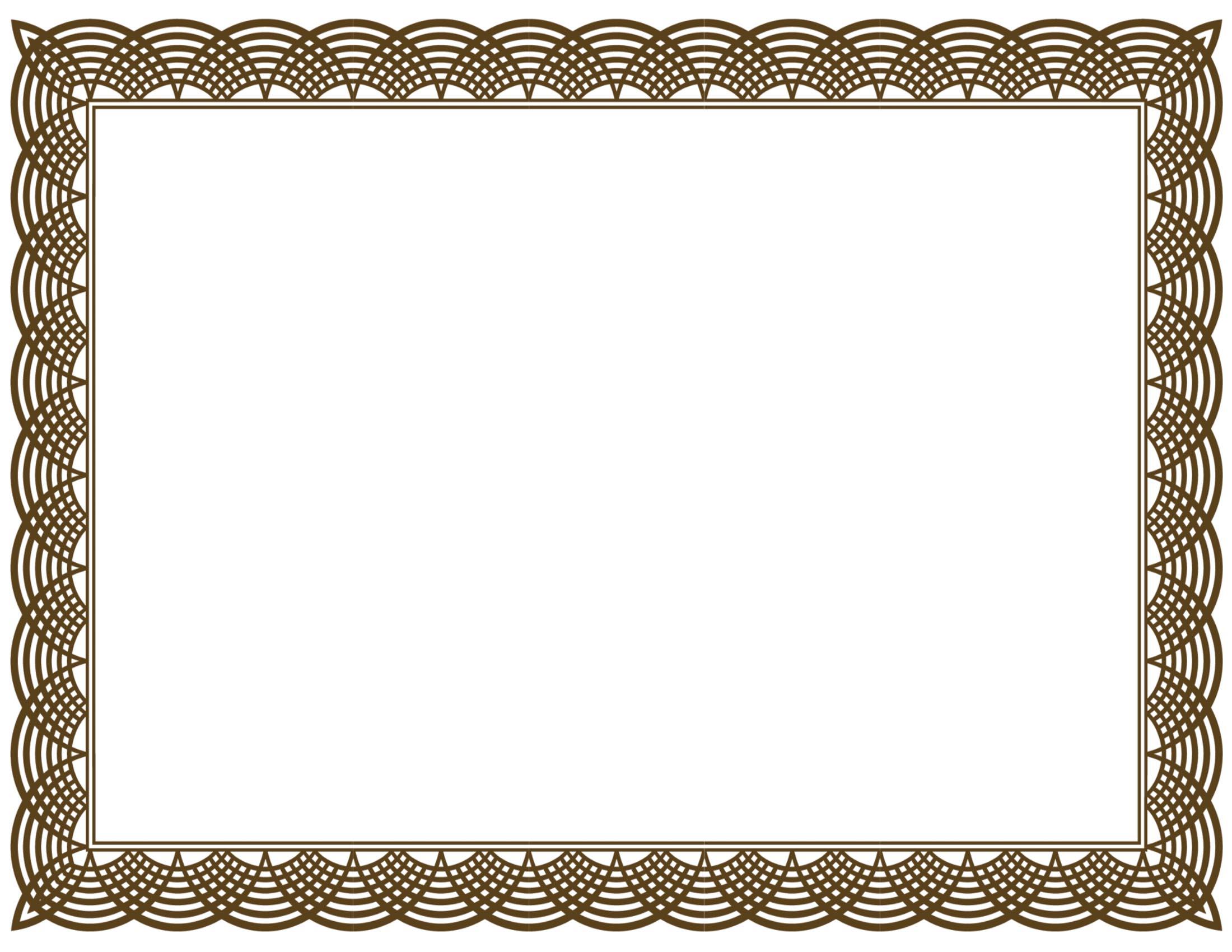 Gift certificate incep imagine. Award clipart borders