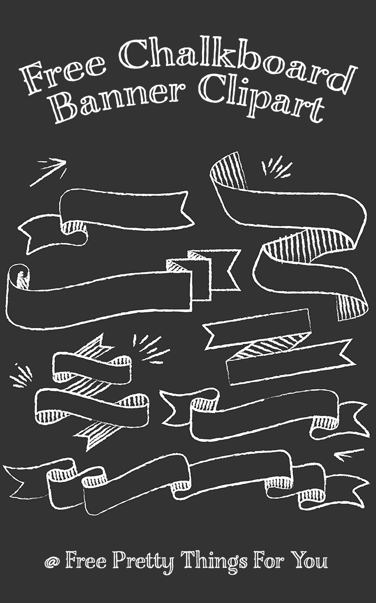 Banners clipart chalkboard. Free banner pretty things