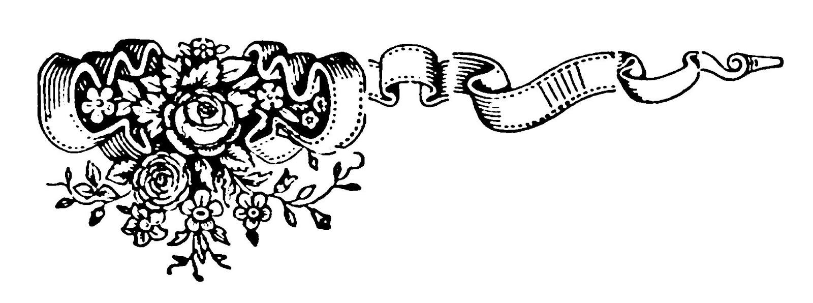 Banner clipart corner. Digital stamp design scroll