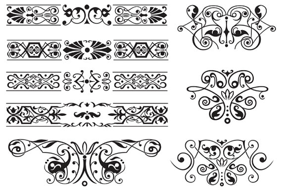 Vector border corners decorative. Banner clipart corner
