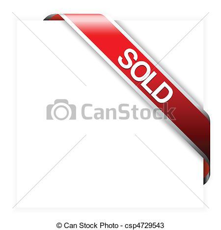 Banner clipart corner. Sold