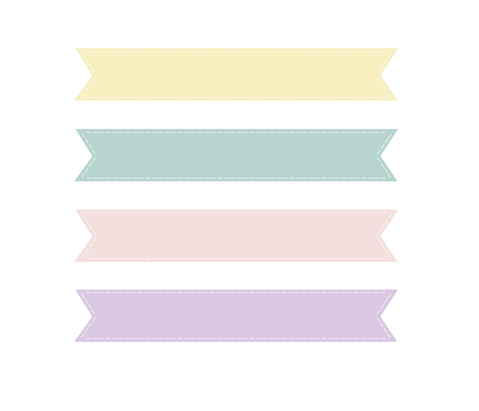 Image of banner pastel. Banners clipart cute