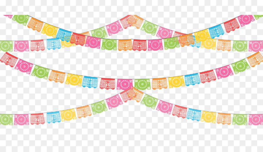 Papel picado clipart. Paper party banner clip