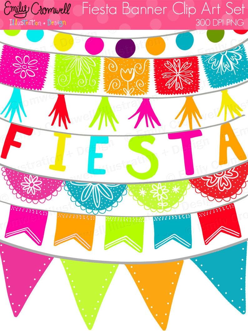 Banner clipart fiesta. Banners digital mexican cinco