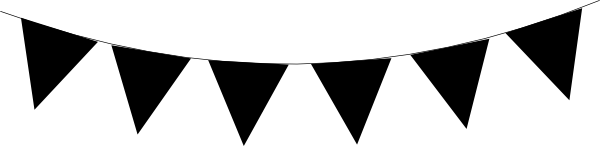 Triangle panda free images. Banner clipart flag