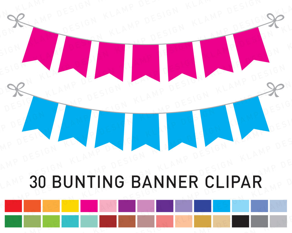 Banner clipart flag. Bunting banners party