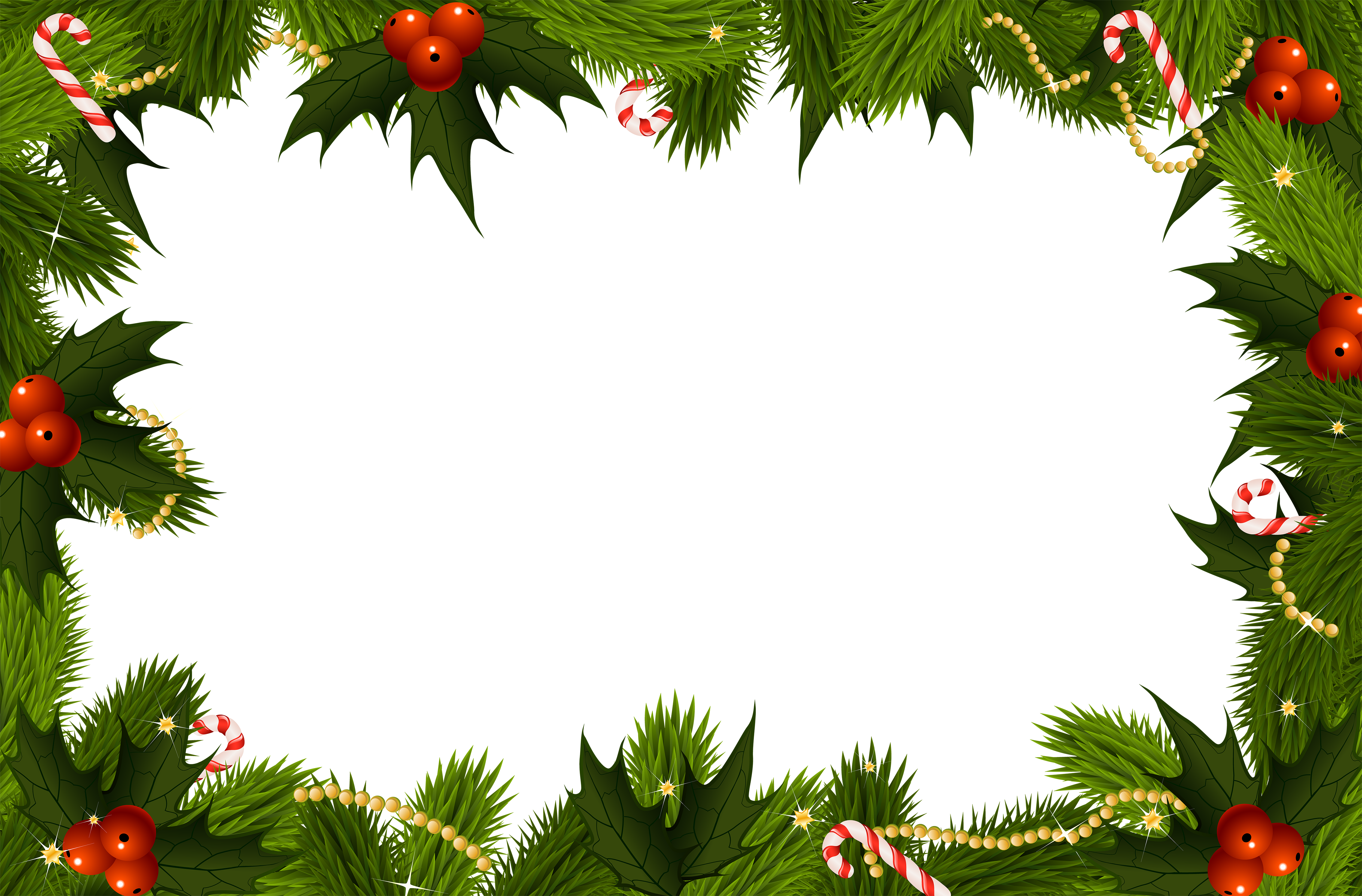 Christmas transparent frame gallery. Holly border png