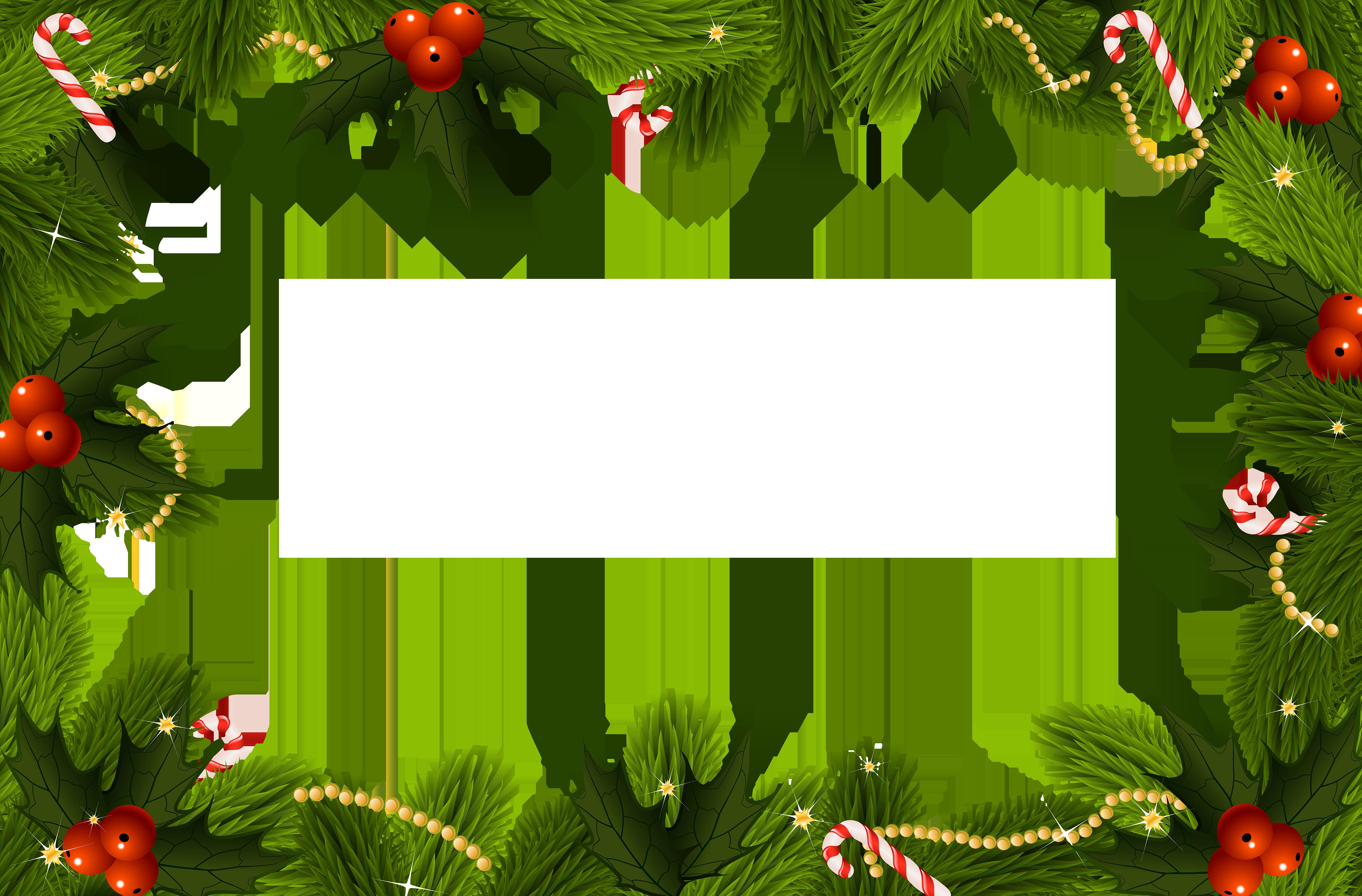 Christmas transparent png border. Clipart frames tree