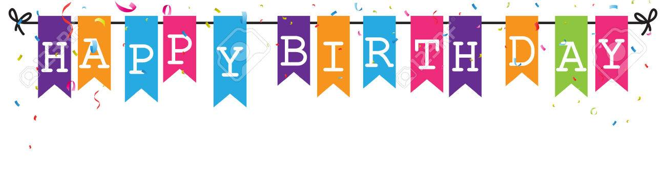 Banner clipart happy birthday. Flag world