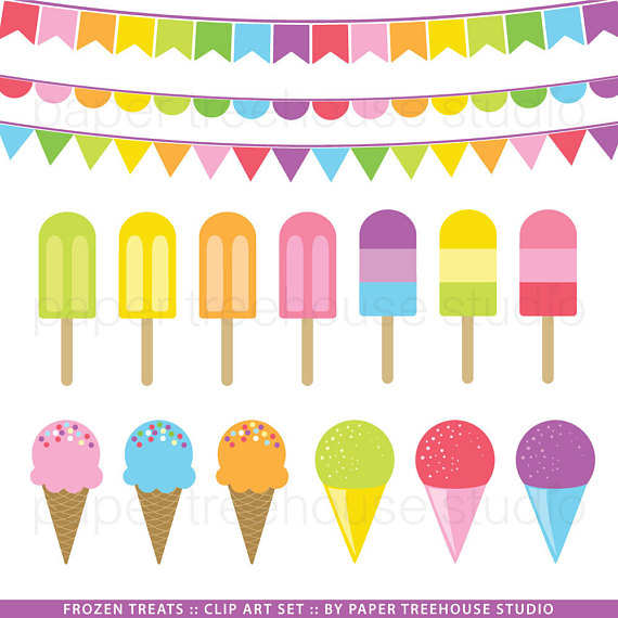 Clip art popsicle snow. Banners clipart ice cream