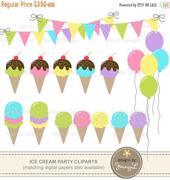 Banners clipart ice cream.  off party birthday