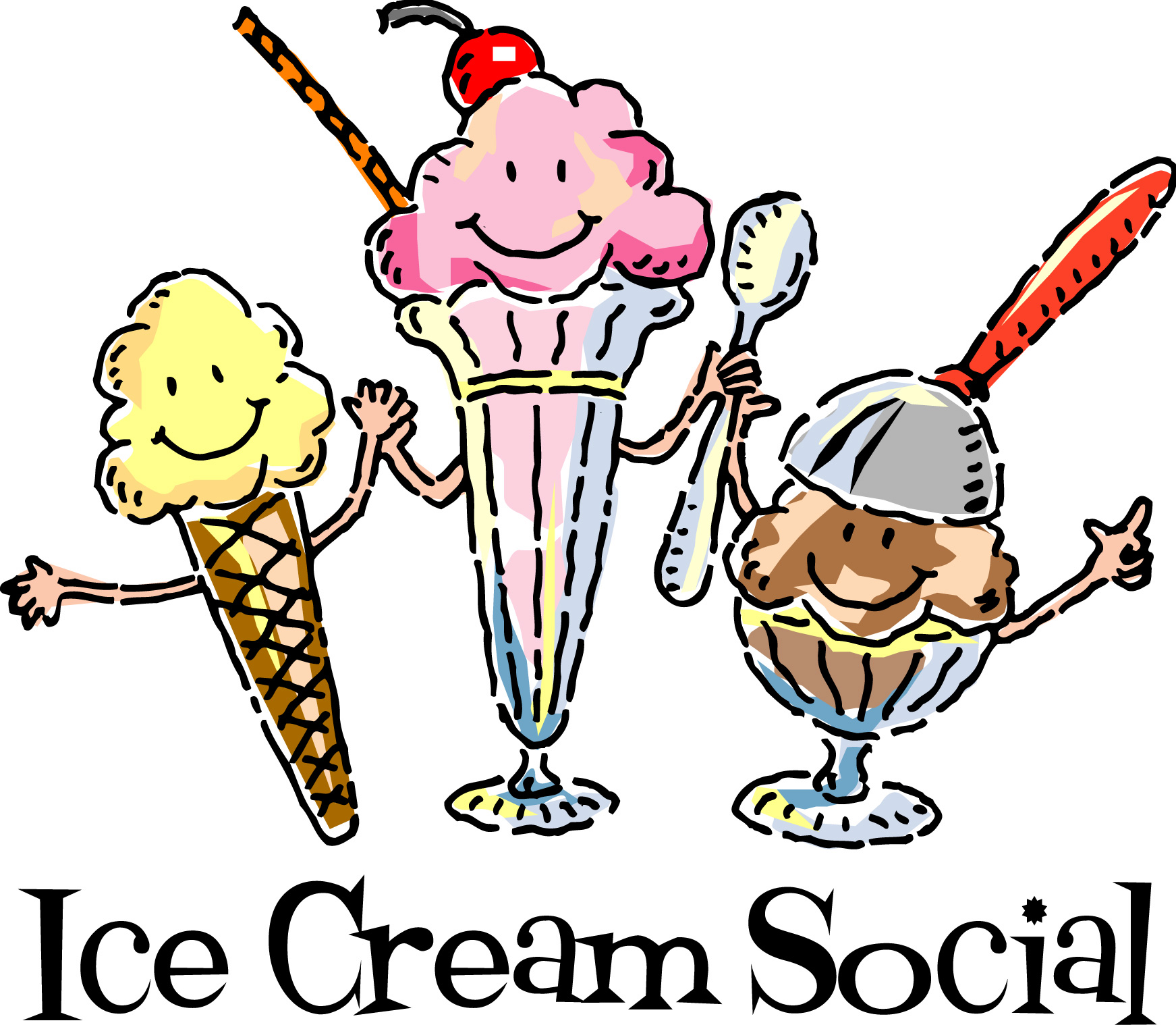 Banner clipart ice cream. End of summer social