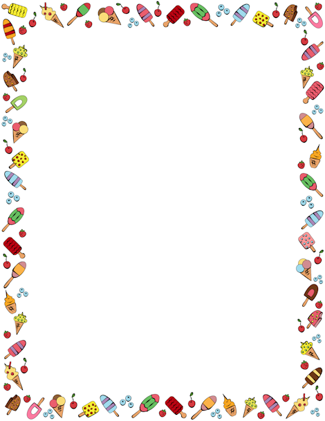 A border featuring wide. Banner clipart ice cream