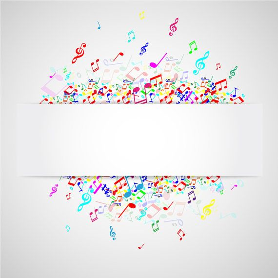 Music note digital banner. Banners clipart invitation