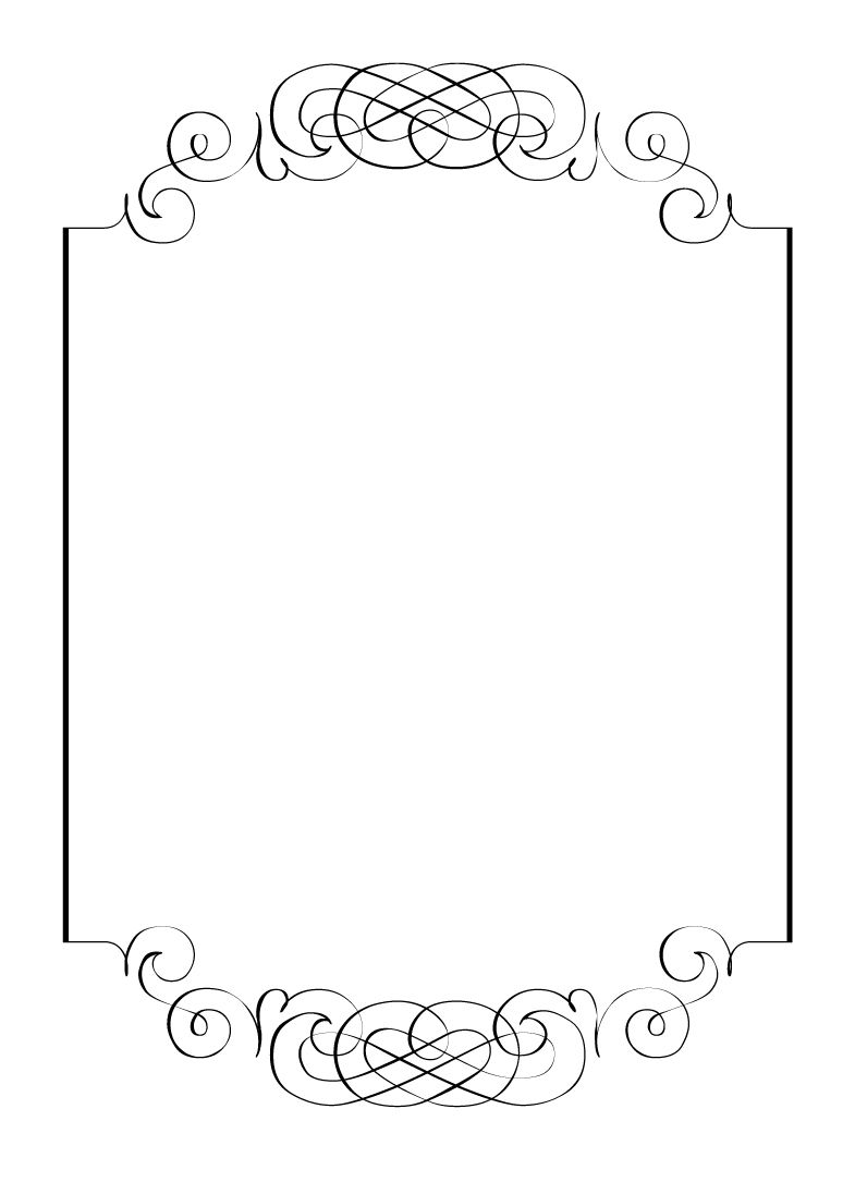 Boarder clipart calligraphy. Free vintage clip art