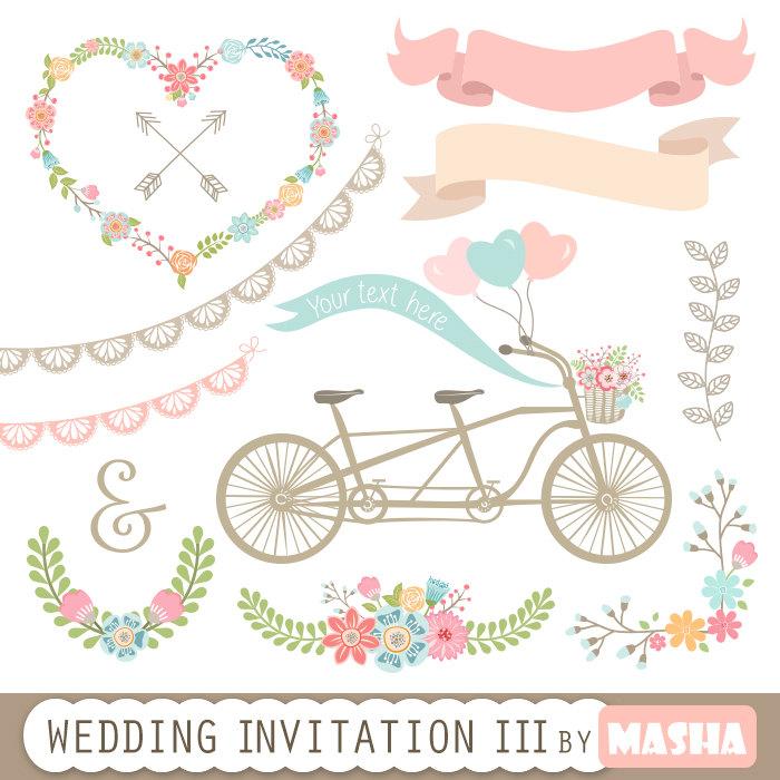 Banners clipart invitation. Wedding iii