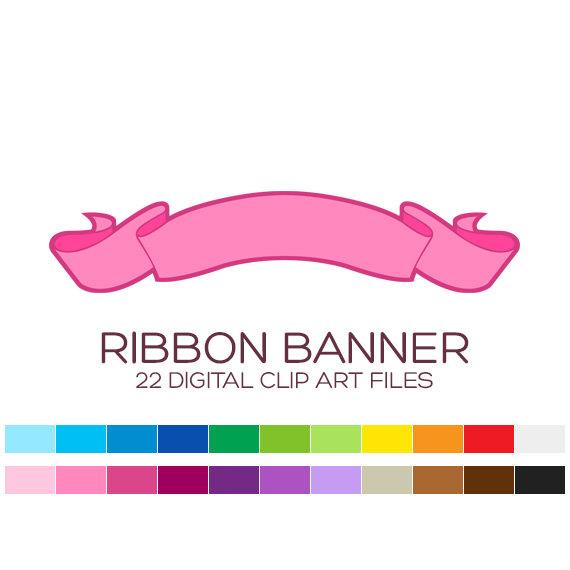 Digital bunting garland birthday. Anniversary clipart ribbon