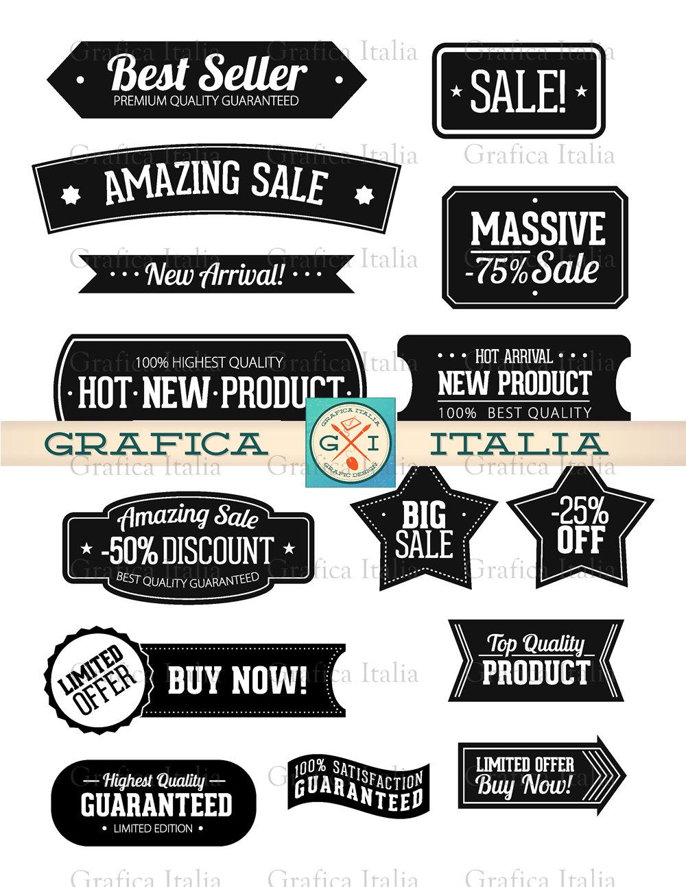 Banner clipart label. Set sticker clip art