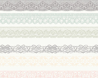 White border free . Banner clipart lace